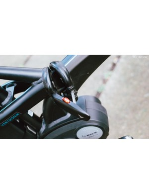 The hinge at the centre of the Vektor frame is easy to operate, and its safety catch is reassuring to see