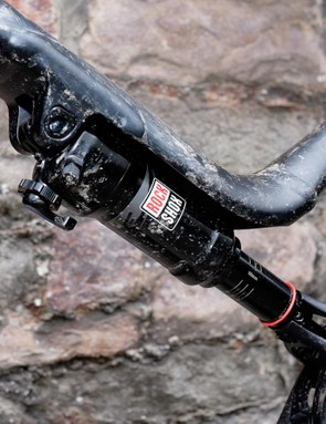 Increased clearances beneath the unusual top tube mean that larger air cans are no longer a no-no