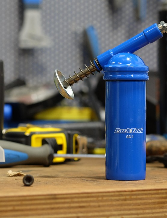Park's GG-1 grease gun now takes pride of place in BikeRadar's workshop