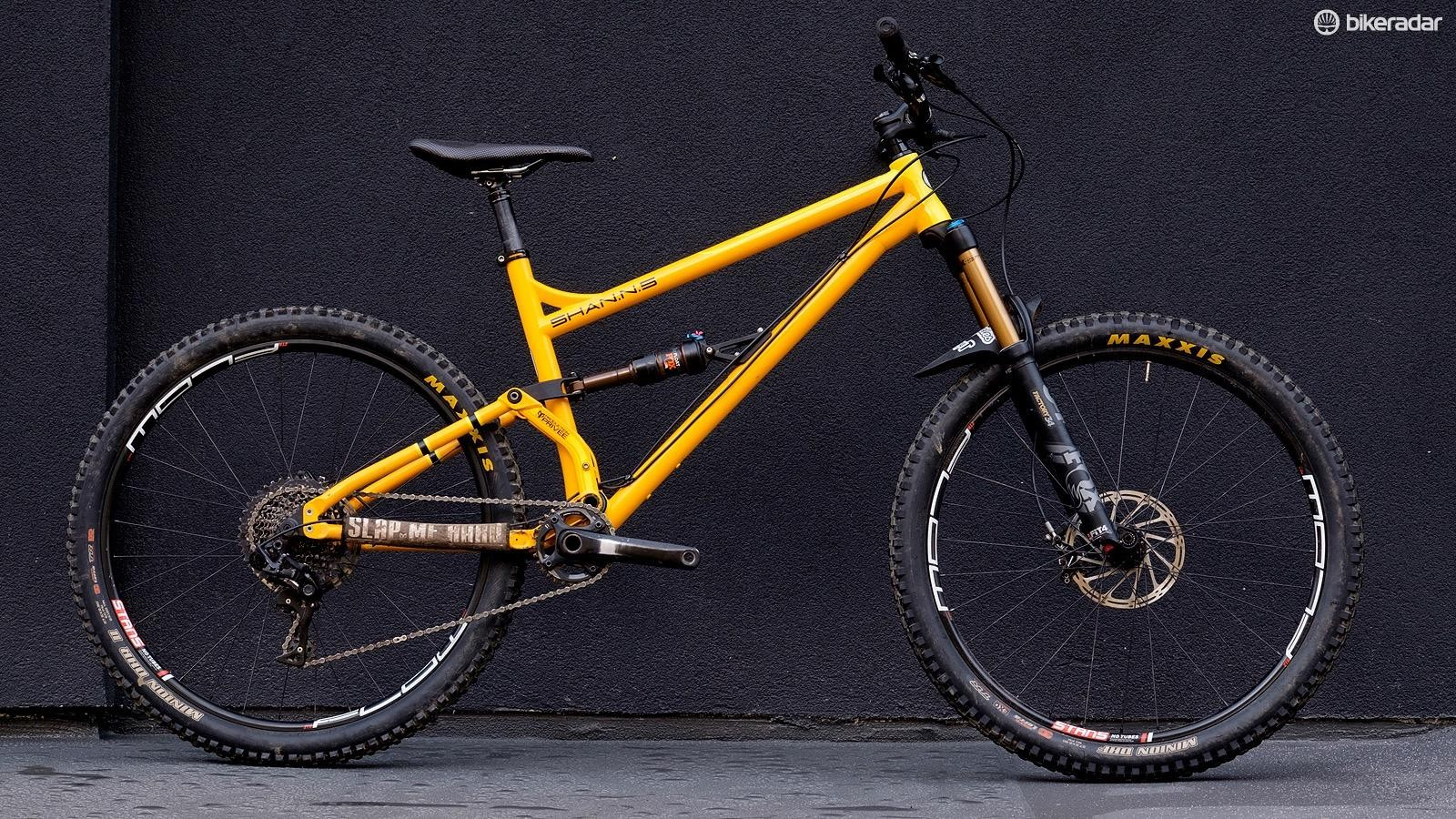The Shan No 5 is a proper enduro bike made from steel