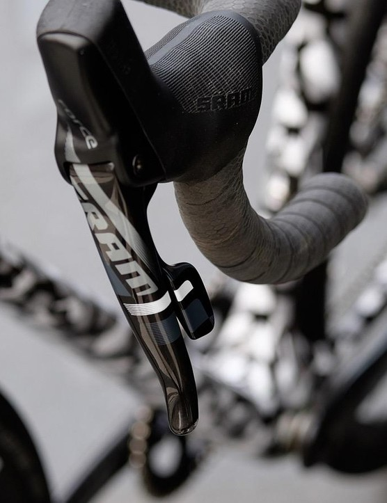 With no front derailleur that left shift paddle is there to control the dropper post
