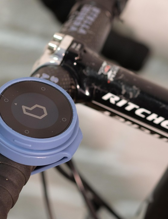 The Beeline sits on your handlebars with a simple display that literally points you in the direction of your destination