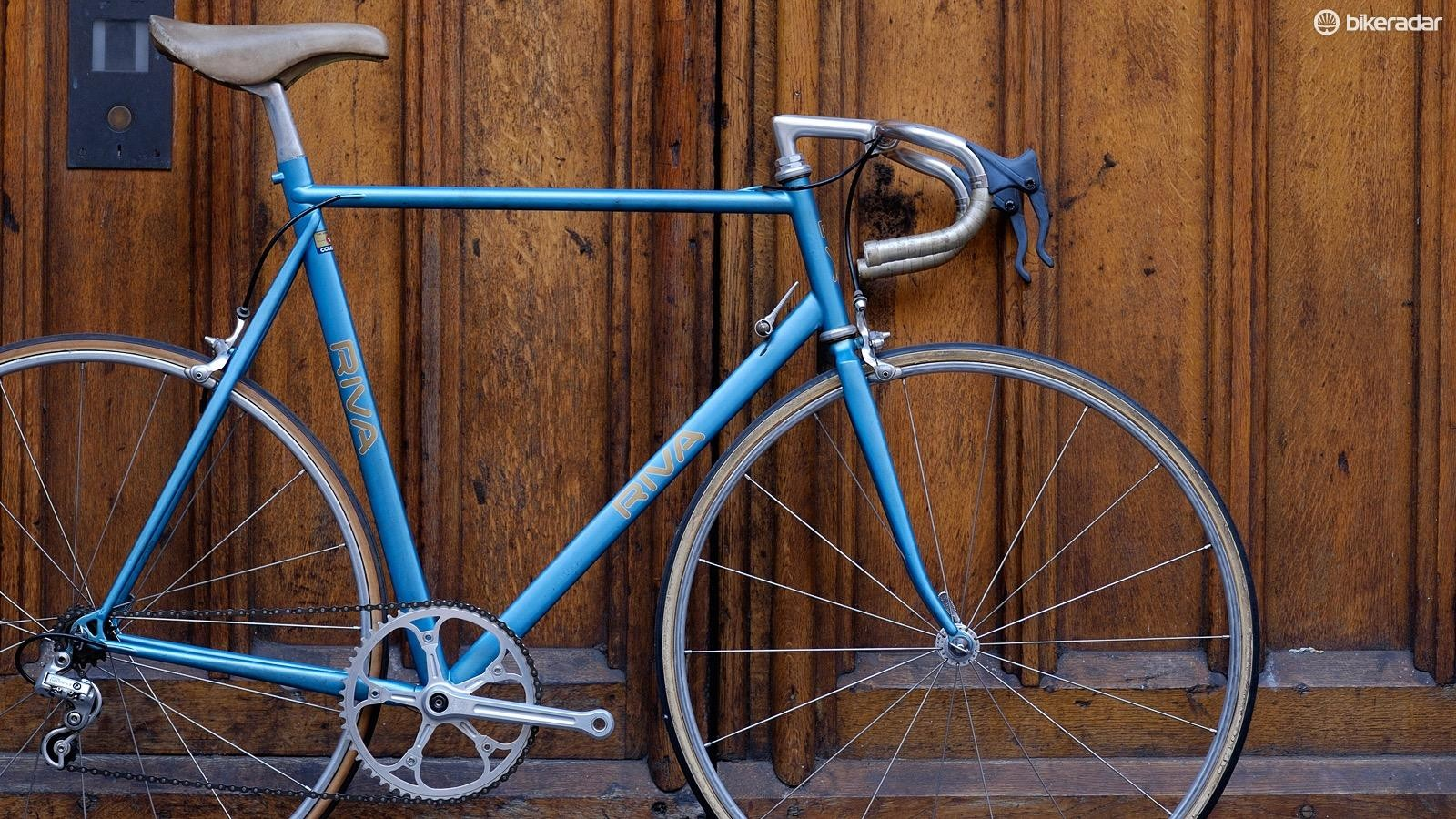 This custom Riva time trial bike has been sitting in a window near BikeRadar HQ for months now