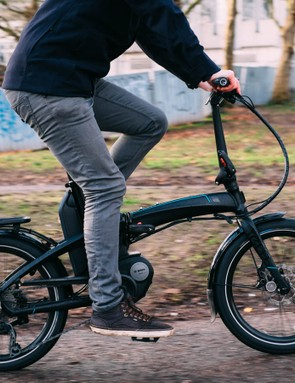 The Tern Vektron is a rugged folding e-bike, capable of carrying plenty of groceries
