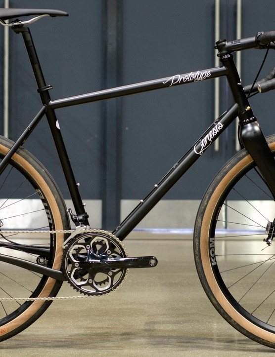 This unnamed prototype adventure bike was built around WTB's 47mm wide Horizon tyres