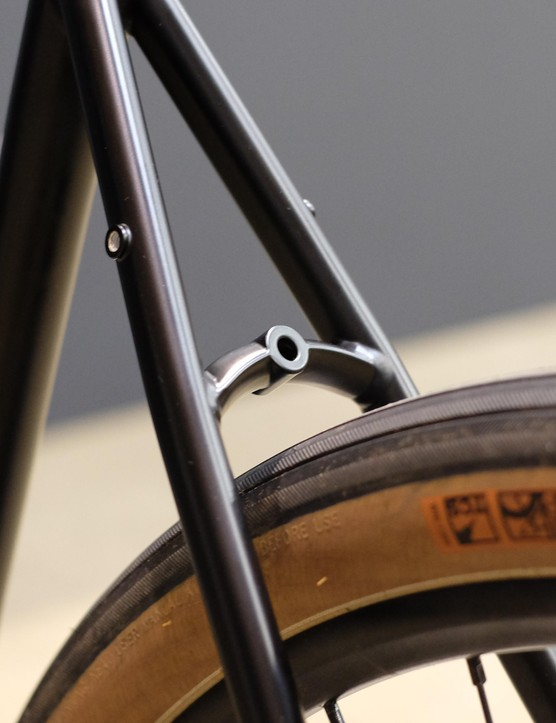 We love the look of this classy, curved seatstay bridge
