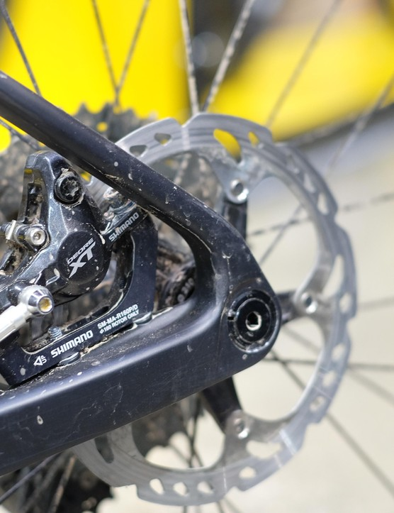 Thru-axles and inboard brake calipers are now commonplace
