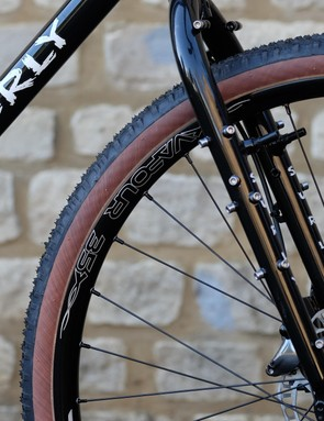 A prickly front fork features all the bosses