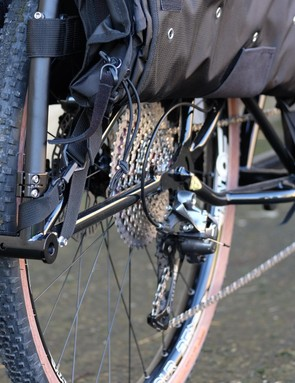 The trailer hitch means you can further extend your bike's wheelbase