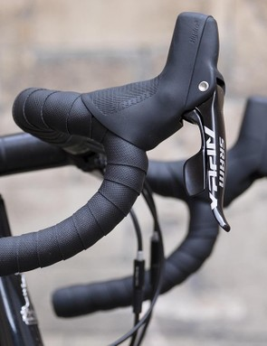 No front derailleur and SRAM's DoubleTap shifters mean the Mustang uses just one shift paddle