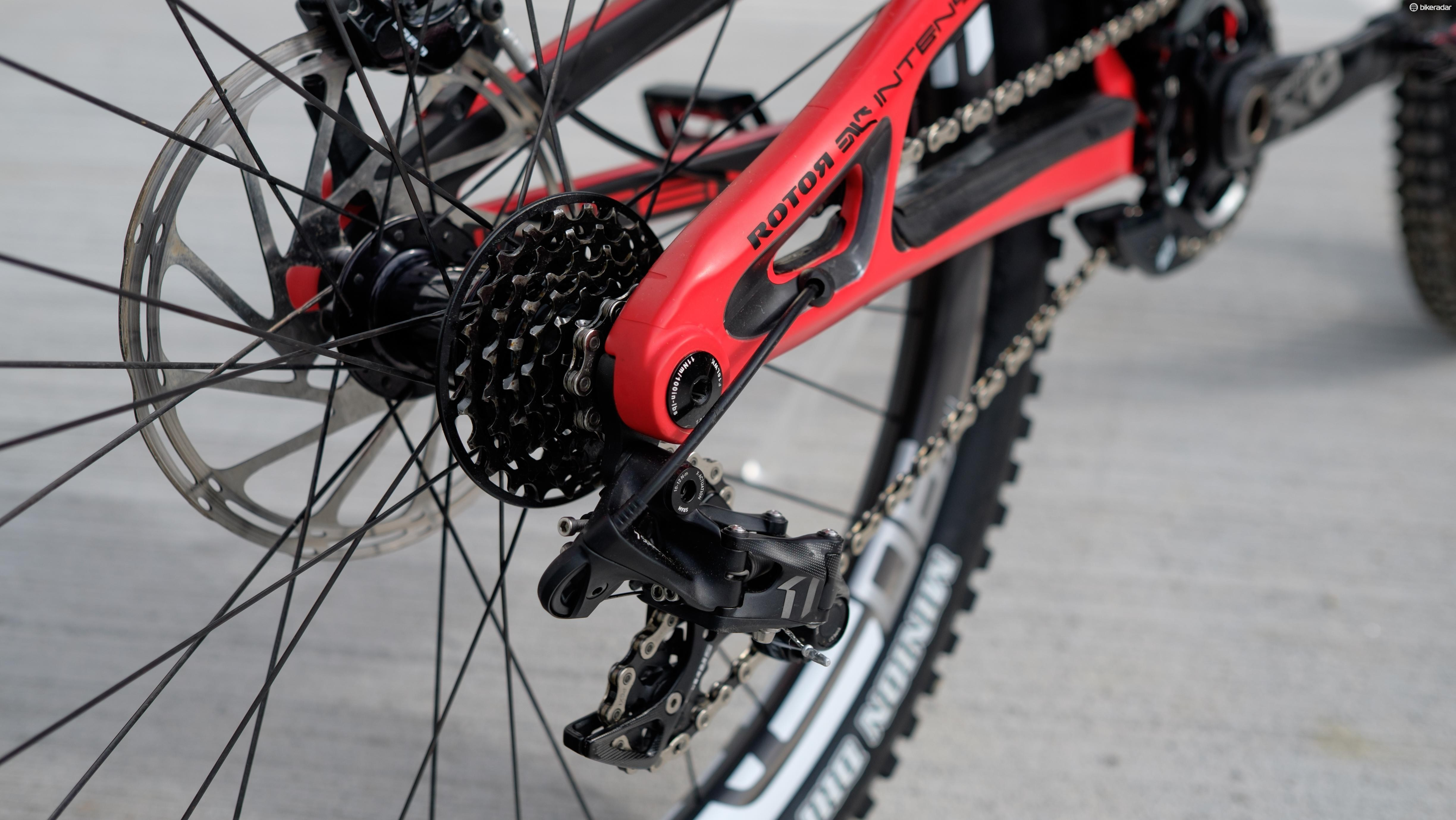 SRAM's X01 DH 7-speed transmission leaves no excess cogs