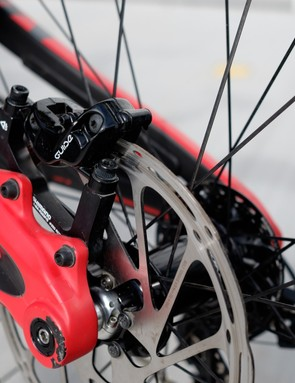 SRAM Guide RS brakes featuring at each end