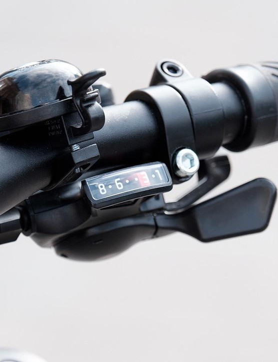 The 3x8 Shimano drivetrain provides plenty of range