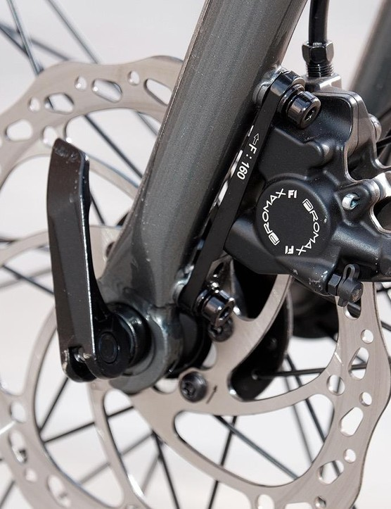Promax F1 hydraulic disc brakes offer ample stopping power