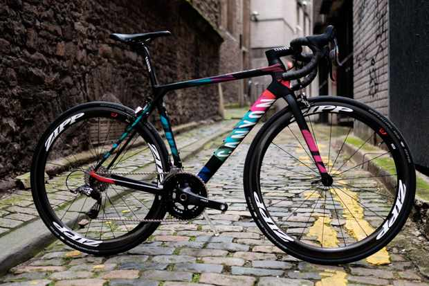 The Canyon Ultimate WMN CF SLX 9.0 TEAM CSR tops the Canyon women's road bike range