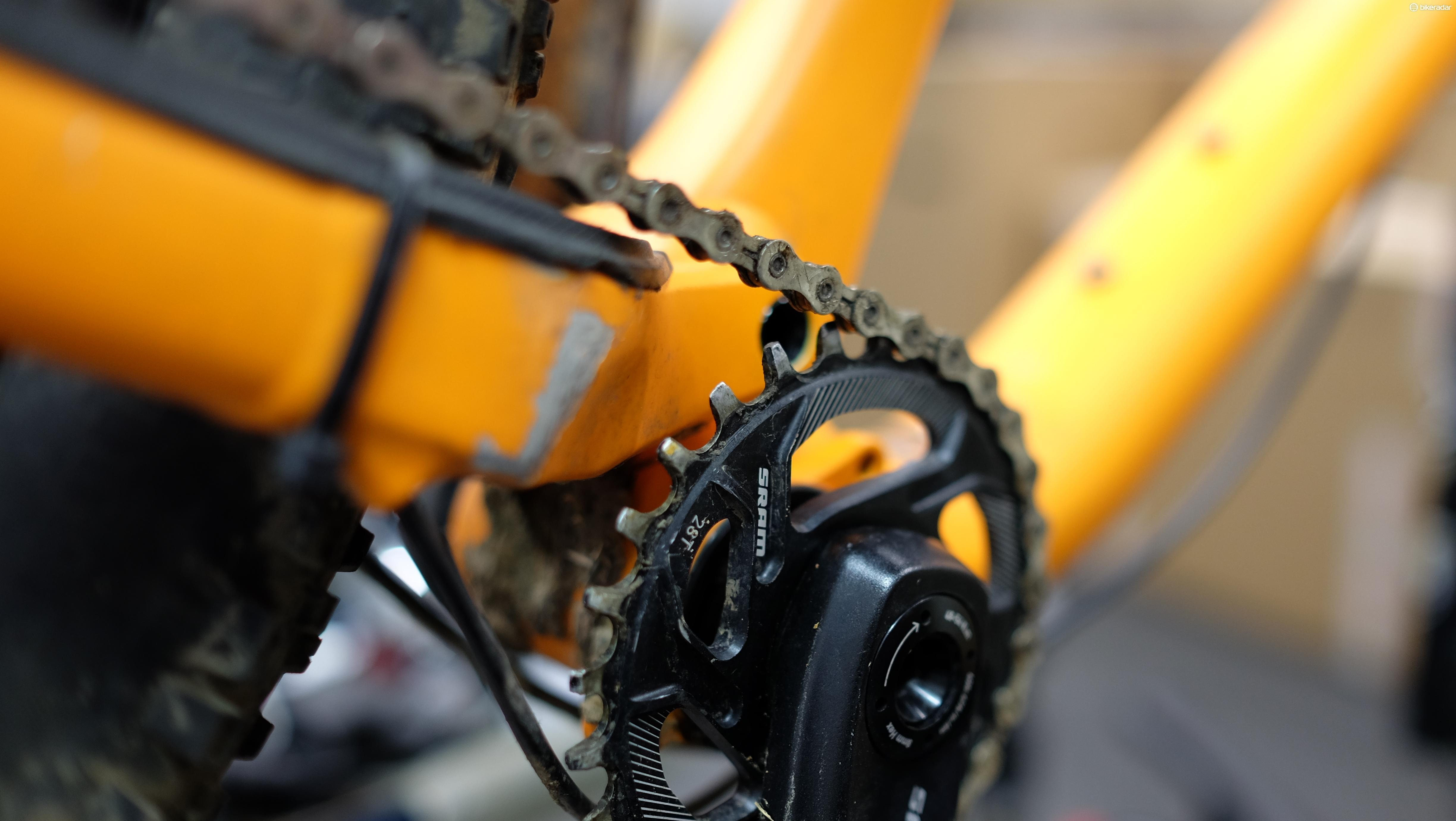 Narrow-wide chainrings have drastically improved chain retention for 1x configurations