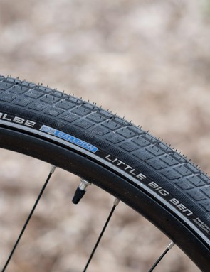 Schwalbe's Little Big Ben tyres offer impressive puncture resistance and solid grip in dry conditions