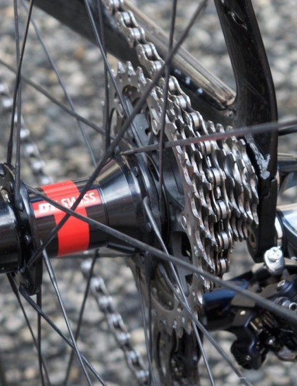 DT Swiss 240s hubs were spotted on Dimension Data bikes