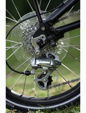 There's a decent gearrange and the usual good Shimano shifting