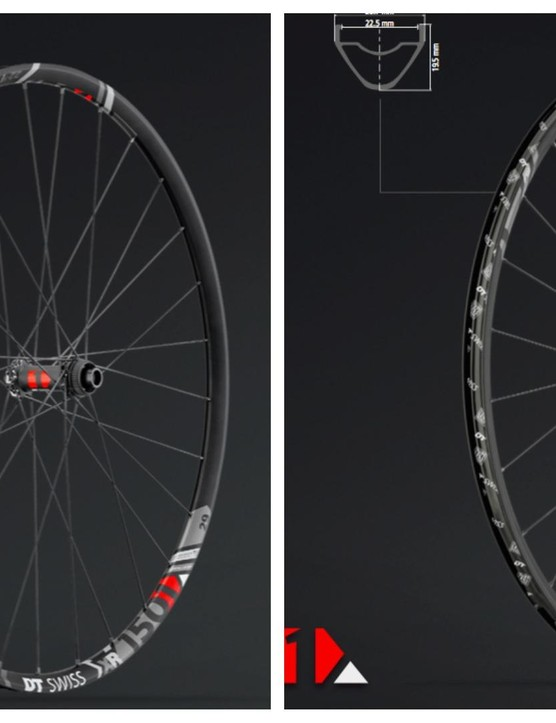 The XR rims feature an assymetric weight-saving profile, compared here to the XM Spline One wheels