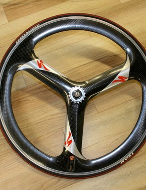 The Specialized TriSpoke wheel, made with DuPont in the early 1990s.