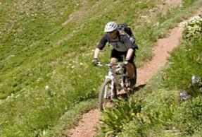 John Stevenson enjoying Durango finest trails.