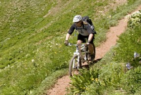 John Stevenson enjoying Durango finest trails.