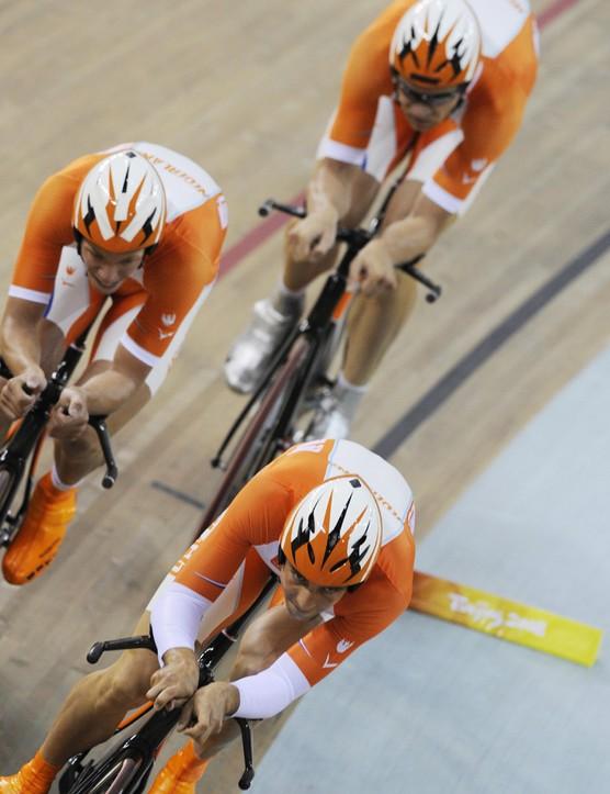 The Dutch team were ragged in the team pursuit