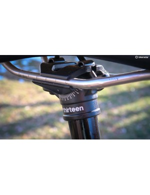 A tried and true two-bolt head handles saddle adjustments