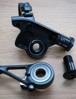 Two bearings give the lever a silky-smooth feel