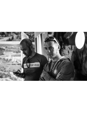 Kieran Page (right), Lapierre brand ambassador and e-MTB racer