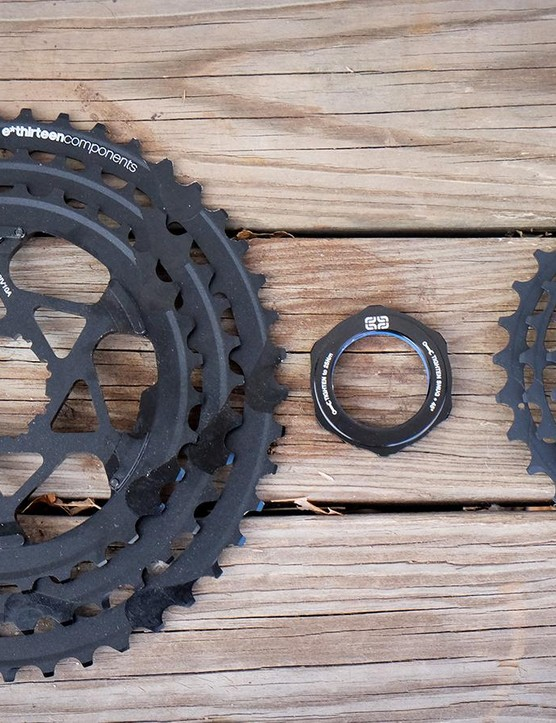 e*thirteen's TRS Race cassette uses a three-piece design