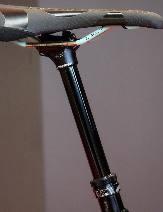 The TRS+ seatpost drops by 75, 110 and 150mm