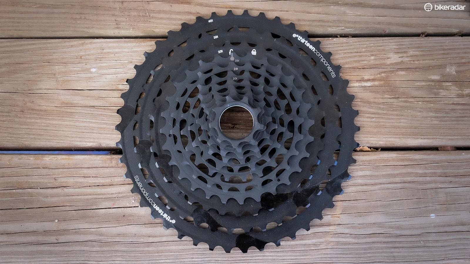 Respectable weight and a very wide range may make the TRS Race cassette a serious contender with 12-speed groups
