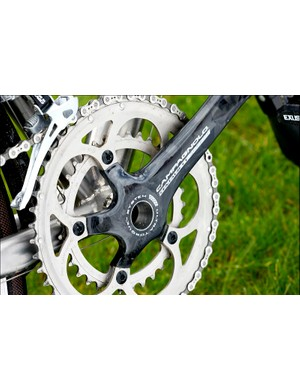 Campagnolo Centaur compact crank in carbon - lovely!