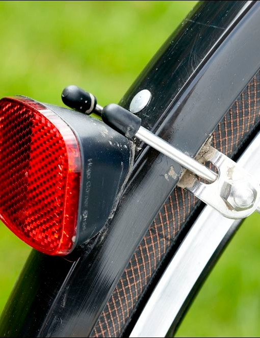 Mudguards are a rare sight on bikes at this level, but a great practical touch