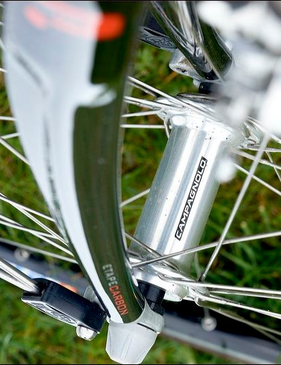 Campagnolo hubs. As you'd expect.