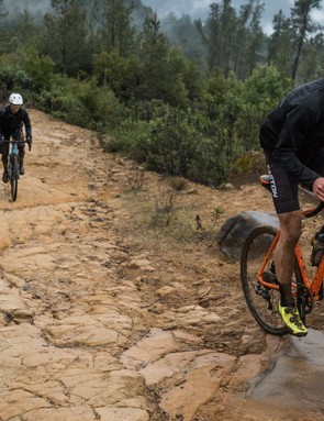 More than sandstone, sometimes things just got downright rocky. The EA70AX wheels are far more durable than standard road wheels