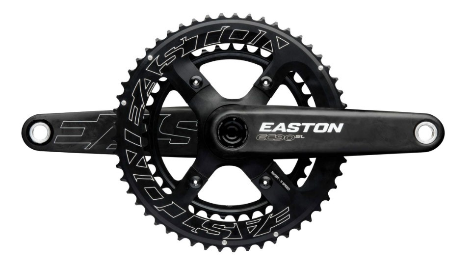 Bolt on a chainring spider and choose between 53/39, 52/36, and 50/34 options