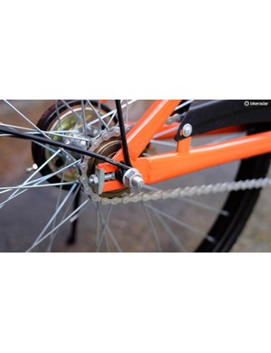 Mercifully, the bike uses regular 15mm nuts instead of an awkward security skewer
