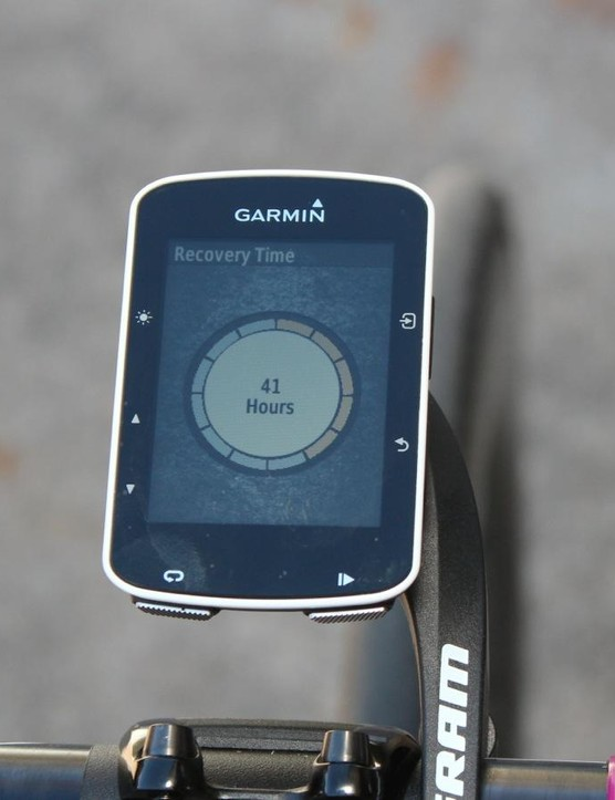 I don't know, Garmin – I think I'm going to ride tomorrow