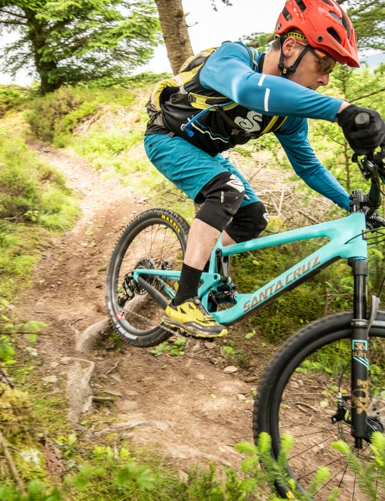 The Bronson in action on the sweet trails of the Scottish Borders