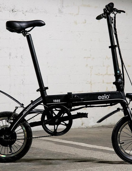 Eelo's 1885 folding electric bike features an unusually short wheelbase with 14in wheels