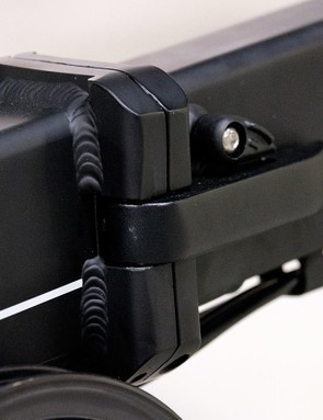The large main hinge is simple to use and includes a safety catch