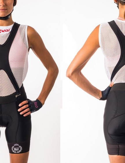 The Ekoi bibshorts come with removable straps and a weight-specific chamois