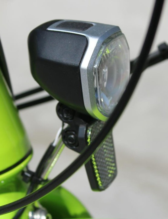 LED lights front and rear help with safety