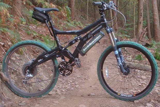 An electric mountain bike in all its glory