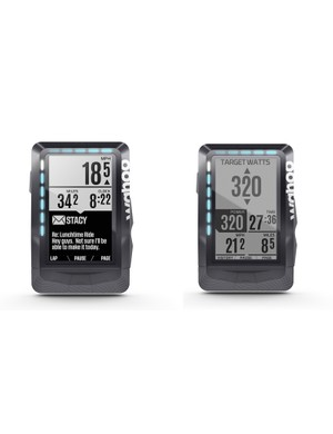 The Wahoo Elemnt provides feedback from a variety of sources in numeric, text and LED form