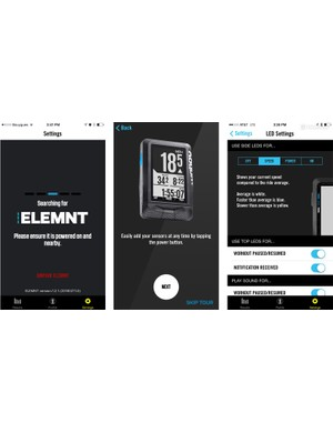 The free app is how you configure the Elemnt's page layouts
