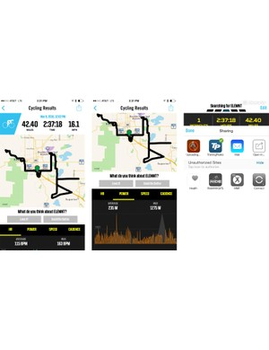 Once a ride is uploaded, the Elemnt's analysis is primitive. But syncing to Strava, Training Peaks or Today's Plan just requires a click